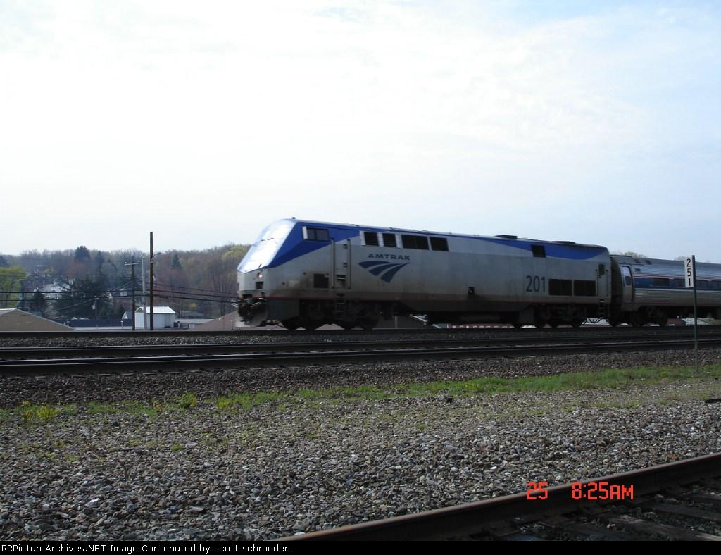AMTK 201 w/NS Train R14 heads EB towards Gallitzin