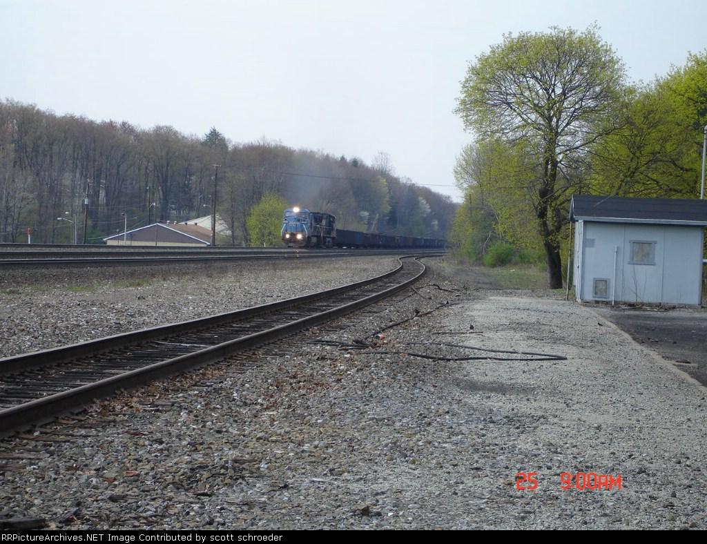 NS 8378 (ex. CR) leads NS Train 66Z EB