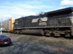 NS 9900 heads WB with long hood forward