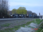 NS 3365 leads an WB unit coal train while 3362 & 3340 sit idle