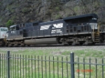 NS 9763 trails long hood forward EB