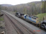 NS 9502 & CSX 8406 head EB
