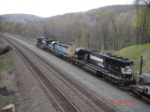 NS 9502, CSX 8406 & NS 6631 head EB