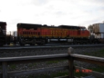 BNSF 817 runs long hood forward as the 4th unit