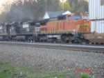NS 9588 & BNSF 817 head WB