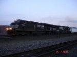 NS 7508 & NS 9698 are EB with a Triple Crown Train