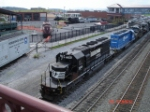 NS 3344, NS 3336 & NS 9137 are EB past the Altoona Railroad Museum