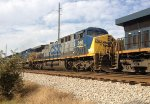 CSX 360 runs 2nd in a line of 7 units