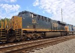 CSX 953 runs 5th in a line of 7 units waiting for NB green
