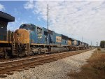 CSX 5415, 360, 774, and 4727 wait for NB green
