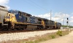 CSX 488, 3148, and 7663 roll NB