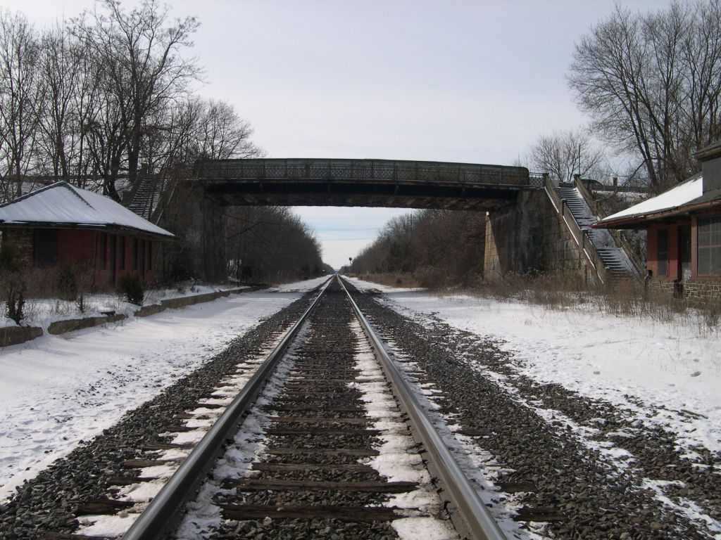 Looking Southbound Down The Railroad Tracks