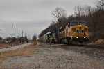 UP 7036 Pulls Ns 239 down the Saint Louis District.