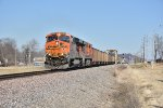 BNSF 6262 Drags a loaded coal out of Elsberry Mo.