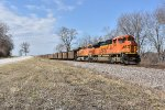 BNSF 8775 Rumbles south along Hwy 79.