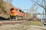 BNSF 9020 Leads a coal load down the K line,