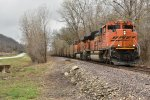 BNSF 9315 Drags a coal load down the K line.