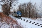 Amtrak #68 kicking up snow