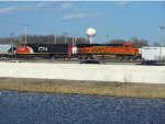 BNSF 7454 and CN 5606