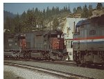 SP Extra 9262 West meets AMTK No. 6 at Truckee