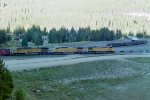 Lead locos on coal train