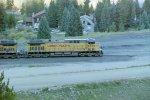 Lead loco on coal train