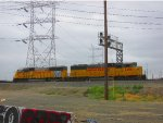 Union Pacific SD60Ms of different cabs