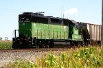 Ex BN Locomotive Relegated to Grain Elevator Duty