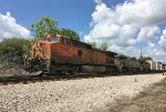 BNSF 5135 and CREX 1347 wait for green