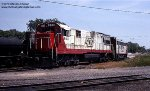 Soo Line GE U30C #803 at Schiller Park IL, June 3, 1979.