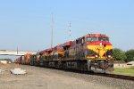 KCSM 4729 leads an EB intermodal