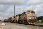 UP 5637 leads EB rock train