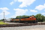 BNSF 2818 leads a local through Tower 26