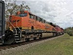 BNSF 7246, CP 9546, and KCS 4780 wait for green