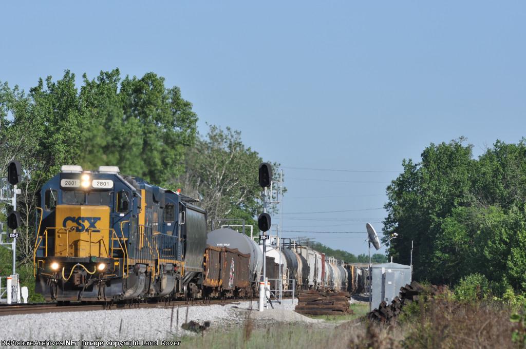 CSXT 2801 On CSX J 782 Northbound
