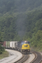CSX 8766 and a smoky leaser on Q388