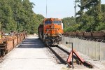 BNSF 6756 lays over