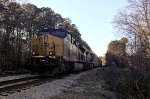 CSX 3134 and 21 wait for NB green with autoracks