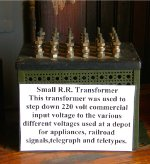 Transformer at the Amboy depot museum