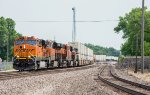BNSF 7257 and 4 other GE's power an intermodal west