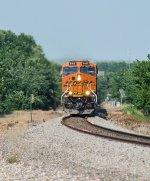 BNSF 8163 leads a manifest west