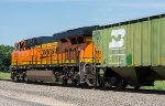 BNSF 8235 is the DPU on a westbound manifest