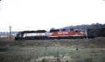 Burlington GP40s 629 and 633