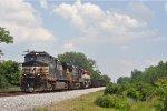 NS 9723 On NS 61 C Northbound At Wayne yard