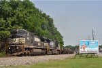 NS 8433 In CSX K 524 Eastbound On The NS CF MP 30.0