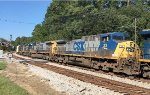 CSX AC44CW 33 runs second in a set of 5 units rolling mixed freight SB