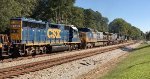 CSX GP40-2 6472 assists a trio of road units