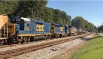 CSX GP40-2 6472 and mate 2324 assist a trio of road units