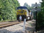 CSX Train U316-21 prepares to leave the siding