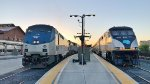 The southbound Coast Starlight arrives at Sacramento Valley Station
